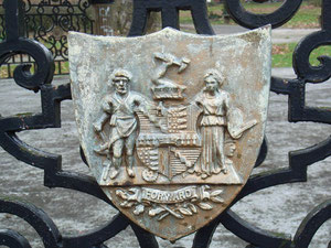 The City's coat-of-arms on Lightwoods Park bandstand