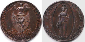 George Hollington Barker's halfpenny recently sold at auction