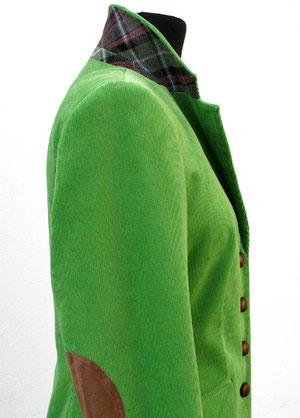Baumwolle mIt Elastan, Patches und Knöpfe aus echtem Leder