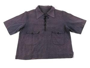 Chemise en toile de coton bleu de prisonnier du camp de Miranda de Ebro, Espagne