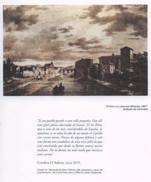 El Ebro a su paso por Miranda 1823