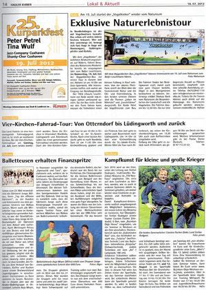 Bericht : Hadler Kurier 18.Juli 2012