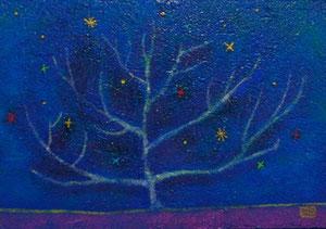 生れる星 22x16 アクリル砂パネル