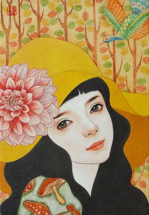 『律の調べ』 日本画 P3 ご予約済