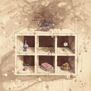 apartment 腐食銅版画 20x20cm