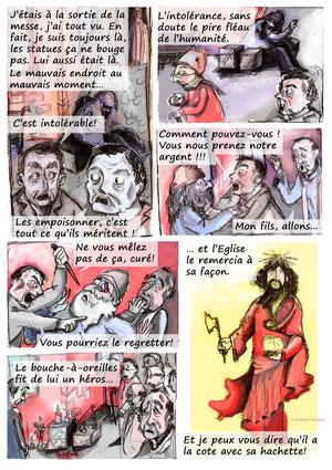 """Planche éditée dans le Porte-Folio """"Le Mystère du Phylactère"""""""