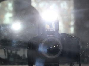 selbstporträt mit blitzlicht