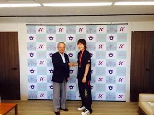 竹中市長と髙田選手