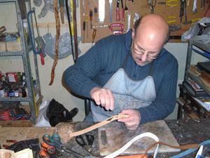 Mein Vater Eduardo in seiner Werkstatt