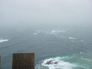 hier treffen beide Meere aufeinander