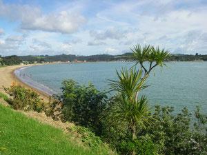 Blick von Paihia nach Waitangi