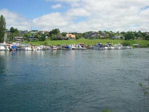 am Hafen von Lake Taupo