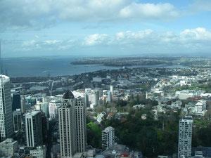 Blick vom Sky Tower auf Auckland