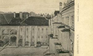 Rusų dalininkų sąjunga 1908-09m. M.V. Dobužinskis. Senas kiemas / Russian painters union 1908-09. M.V.Dobužinskis. Old courtyard