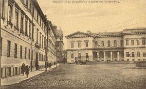 Vilnius. Napaleono aikštė ir Vaivados rūmai / Vilnius. Napoleon's square and Voivod's palace