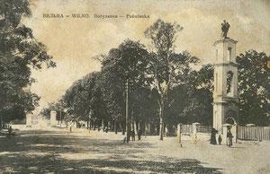 Rokoko stiliaus Šv. Jackaus paminklas. Leid. D. Visunas / Rococo style St. Jack's monument. Publisher D. Visunas