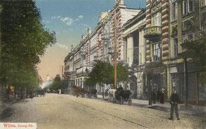 Vilnius. Šv. Jurgio (Šv. Georgijaus) prospektas. 1918 m. Leid. J.Ch.,W. / St.George prospect. 1918 Publisher J.Ch.,W.