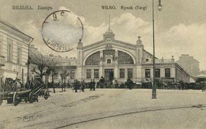 Vilnius. Turgus. Leid.  A.I. Fialko / Vilnius market. Publisher A.I. Fialko