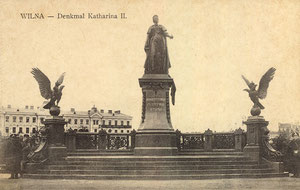 Vilnius. Paminklas Jakaterinai II / Catherine the Great Monument