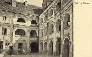 Vilnius. Alumnato kiemelis / Vilnius. The Alumni courtyard