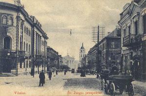 Vilnius Šv. Jurgio prospektas. Šlapelienės knygyno leidimas / St. George boulevard. Published by Šlapelienė bookshop