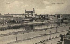Vilnius. Neries pakrantė. Apie 1908m. Gerg. Stilke, Berlin NW.7 (5 Pfg.) / Vilnius. Neris riverside. About 1908