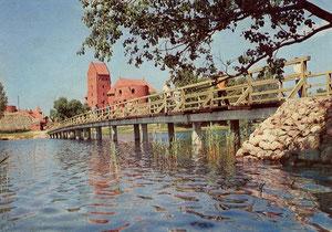 Trakai. Pilies ansamblis Galvės ežero saloje. Nuotr. L. Verbliugevičiaus. 1981m. / Trakai. Castle ensemble on the Galvės lake island. Photo by L. Verbliugevičius. 1981