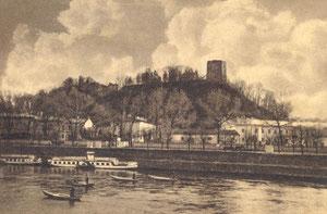 Vilnius. Pilies kalnas.  Nuotr. J. Bulhako. Apie 1932m. / Vilnius in J. Bulhak photography.
