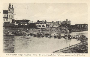 Vokiečių armijos kolona. 1916m. Leid. VGH Konigsberg i Pr. / German army column. 1916 Pub. VGH Konigsberg i Pr.