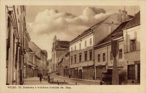 Vilnius. Pilies gatvė ir Šv. Jono bažnyčios vaizdas / View of Pilies street and St. John's Church