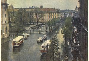 Vilnius. Černiachovskio aikštė. Foto P. Karpavičiaus. 1955m / Vilnius. Černiachovski square. Photo. P. Karpavičius. 1955