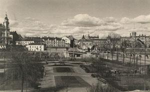 Centrinė Vilniaus m. dalis. Nuotr. autorius Vincentas Berdovskis / Central Vilnius. About 1960. Photo by Vincentas Berdovskis