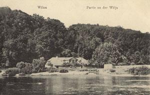Vilnius. Neries krantas. 1917m. / Vilnius. Neris shore. 1917