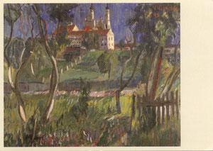 Misionierių bažnyčia Vilniuje. 1943m. Dail. Viktoras Vizgirda / Missionaries Church in Vilnius. Painter 1943. Viktoras Vizgirda.