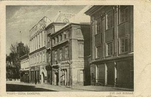 Vilnius Jano Bulhako fotografijose. Pilies g-vė. (1922). SerijaI, No.4 / Vilnius in J. Bulhak photography. Pilies street.