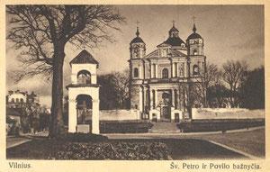 Vilnius. Šv. Petro ir Povilo bažnyčia / Vilnius. St. Peter and Paul's Church