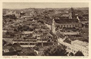 Vilniaus m. bendras vaizdas / Full view of Vilnius (Phot. J. Bulhak)