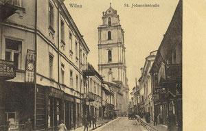 Vilnius. Šv. Jono gatvė. 1916m. / St. John's street in 1916