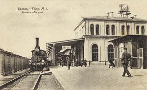 Vilniaus geležinkelio stotis 1911m. / Vilnius railway station