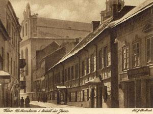 Vilnius. Pilies gatvė ir Šv. Jonų bažnyčia. Nuotr. J. Bulhako / se (1922m.) / Vilnius in J.Bulhak photography.