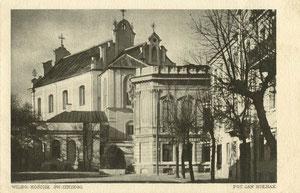 Vilnius. Šv. Jurgio bažnyčia. Foto Jano Bulhako. Serija II, No. 10. 1922m. / Vilnius. St. George's church. Photo by J. Bulhak. Series II, No. 10, 1922