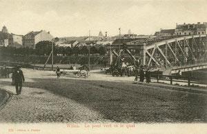Žaliasis tiltas ir krantinė / The Green bridge and riverside