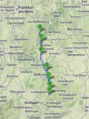 Woche 2: ca. 122km