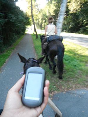 kleines Hilfsmittel, das GPS-Gerät