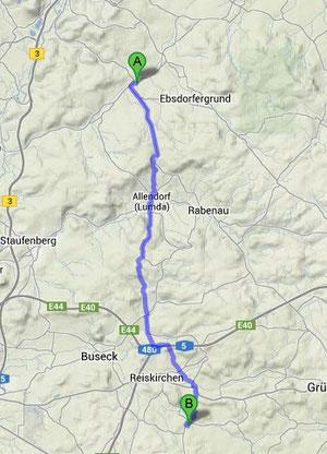 Hattenrod-Ebsdorf ca. 22km