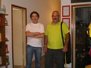 Una foto che mi ritrae con Benedetto Sabatini di TTM.