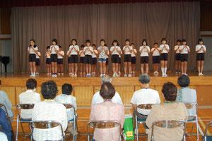 片貝小学校生徒の発表