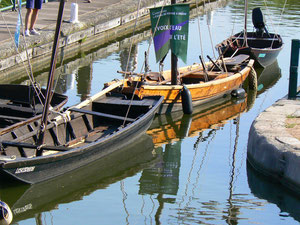 Les copains : futreau, bateau traditionnel de Loire