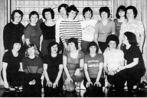 Die 1978 gegründete Gymnastikgruppe im Jubiläumsjahr 1980