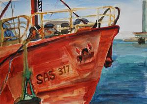 Rotes Schiff - Sassnitz 2011        80 mal 60 cm    560 Euro